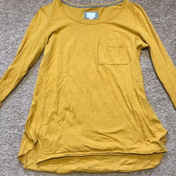 Anthropologie Tops - Yellow Long Sleeved Top